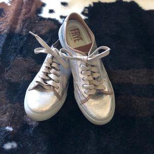 Metallic Frye sneakers
